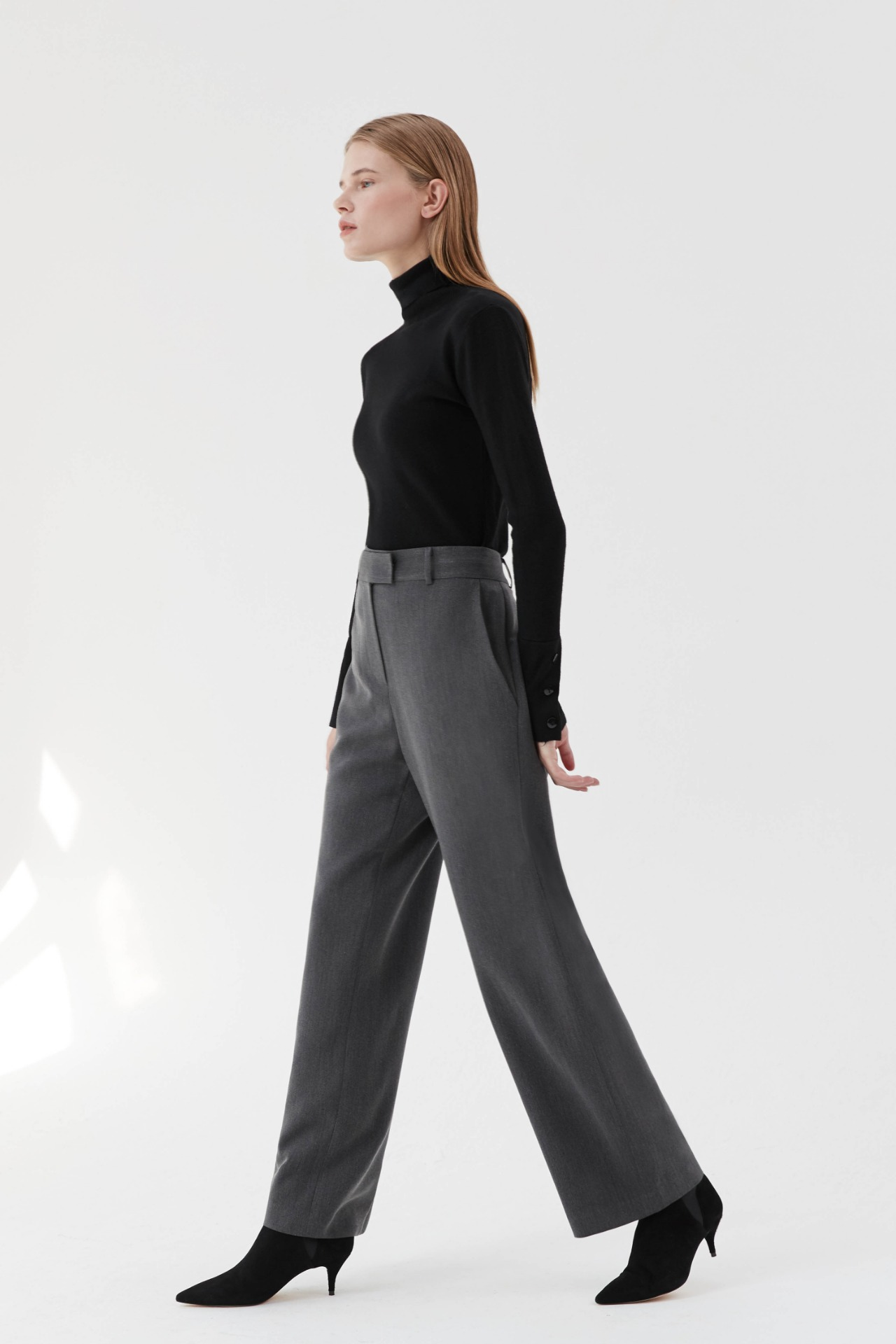 Pants Straight Wide (Charcoal)