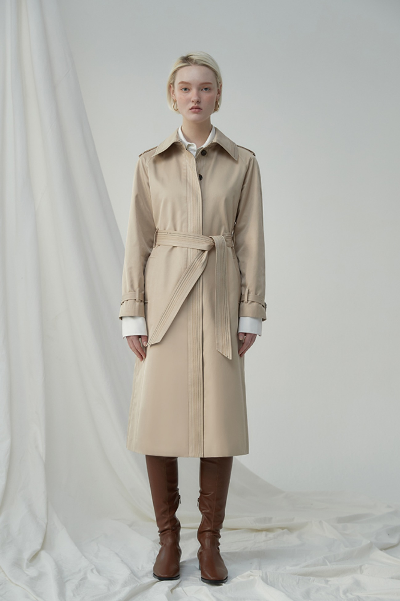 Trench Coat Safarino 3 Stitches (Beige)