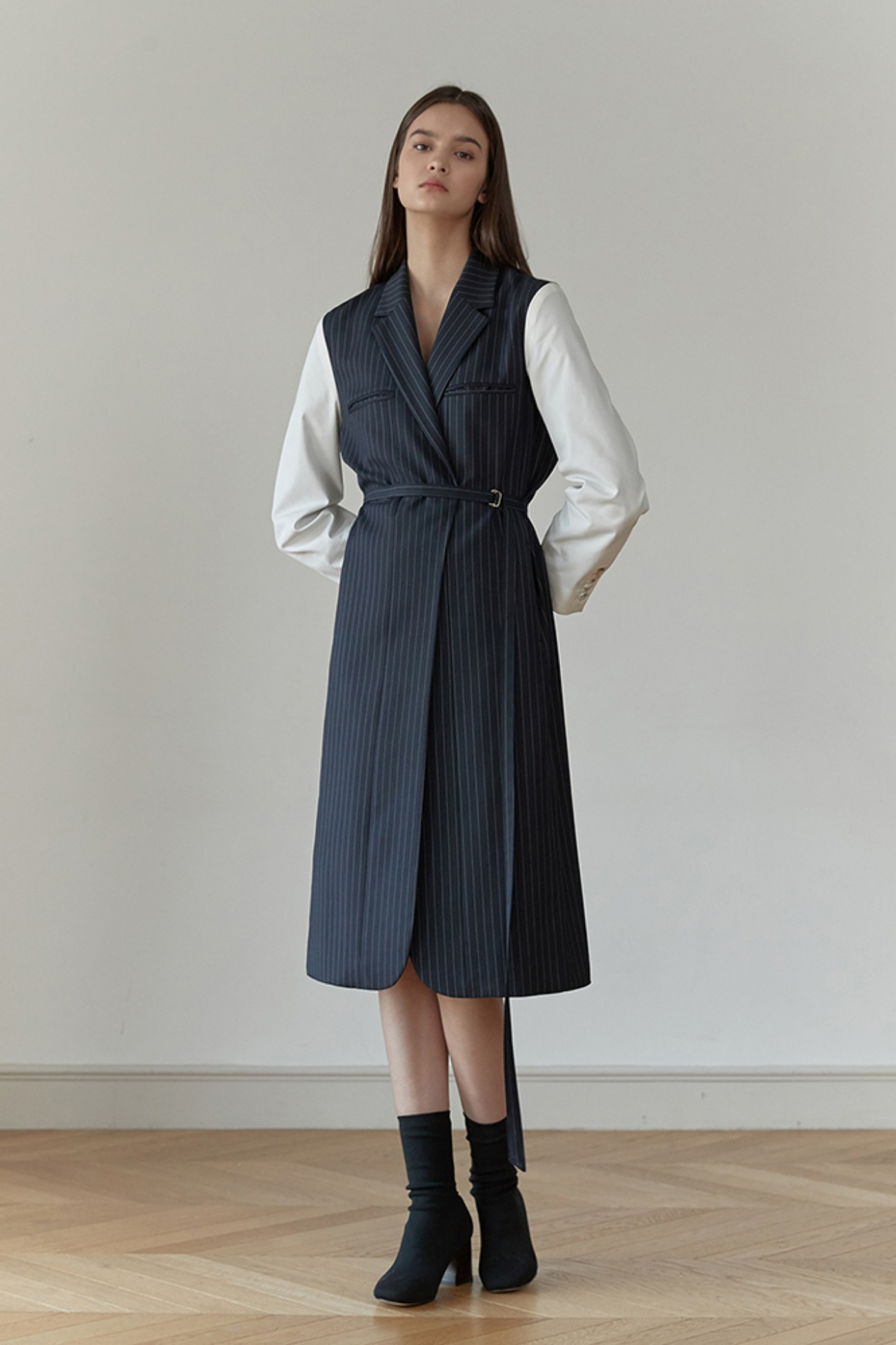 Jacket Robe Cappotto – Layerd With Stripes (Navy)