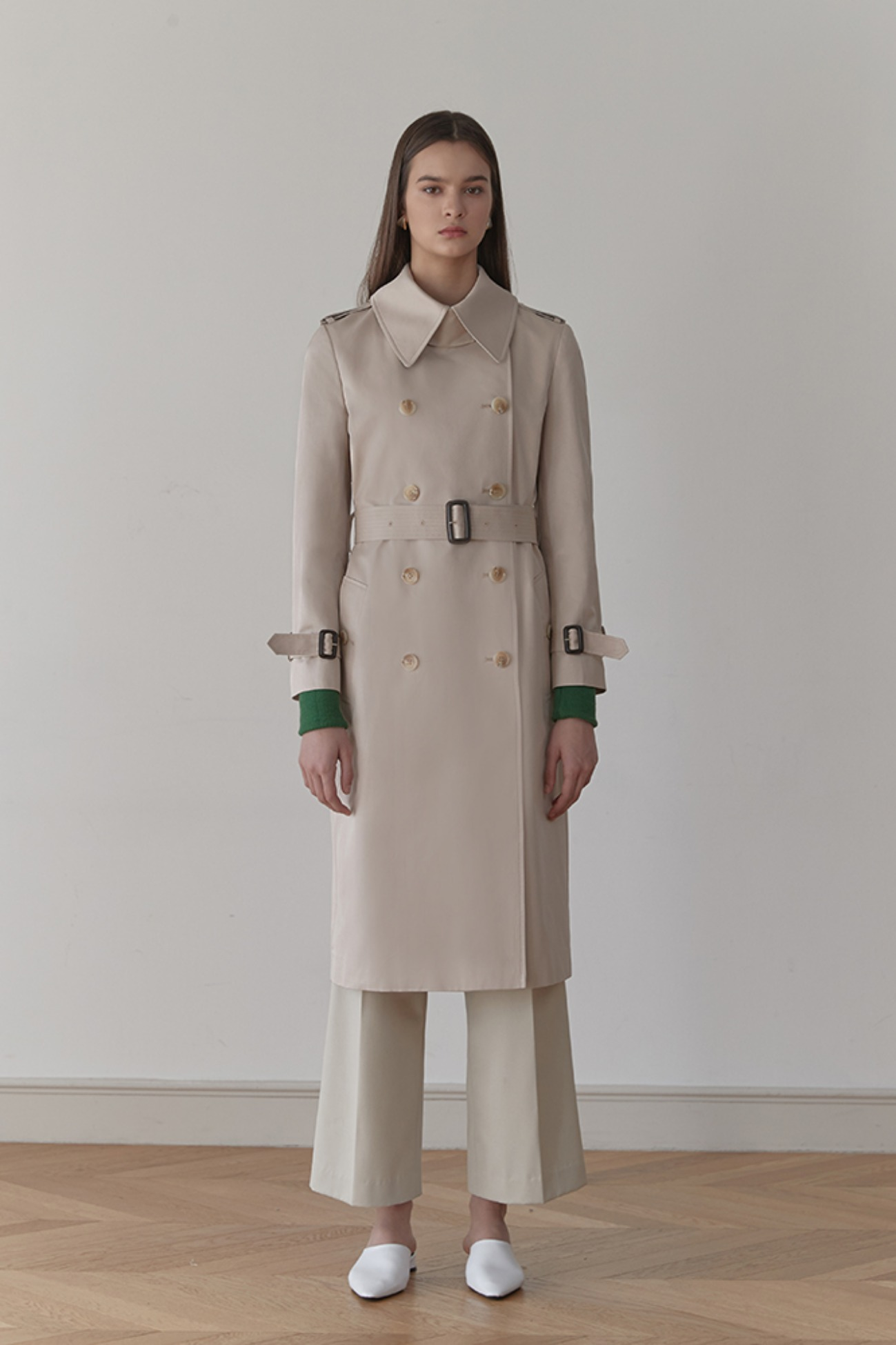 Trench Coat Rhone Double-Breasted (Beige)