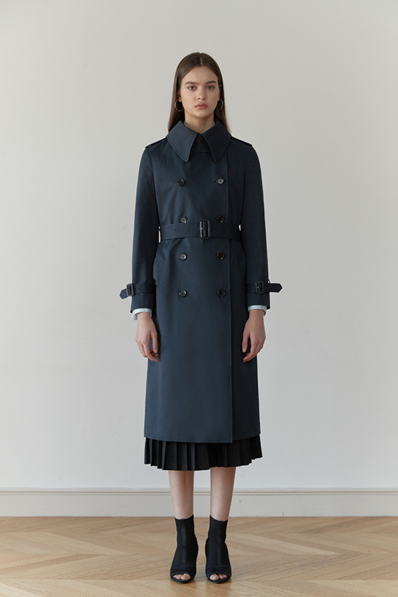 Trench Coat Rhone Double-Breasted (Navy)