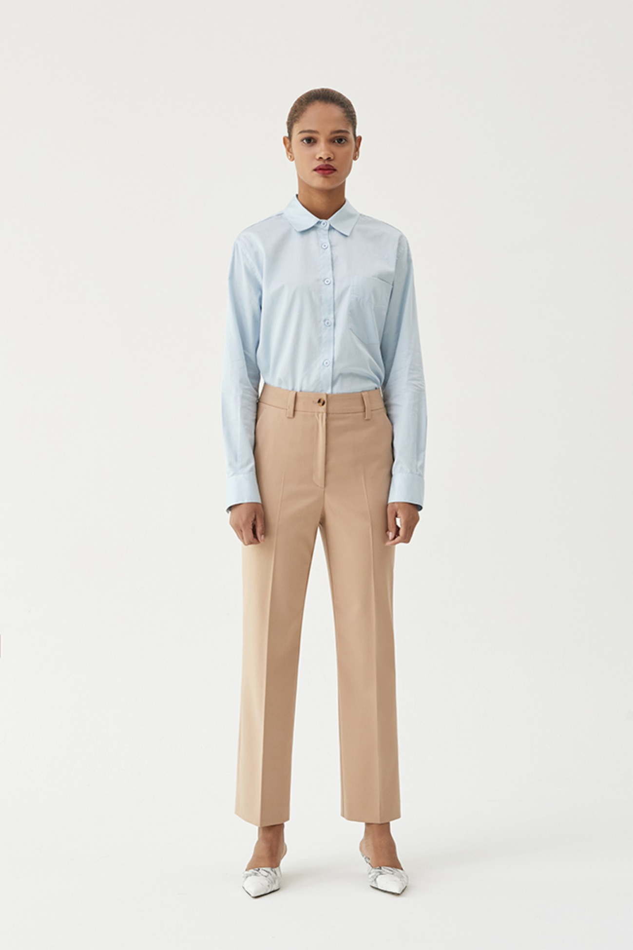 Trouser Pants Straight Crop