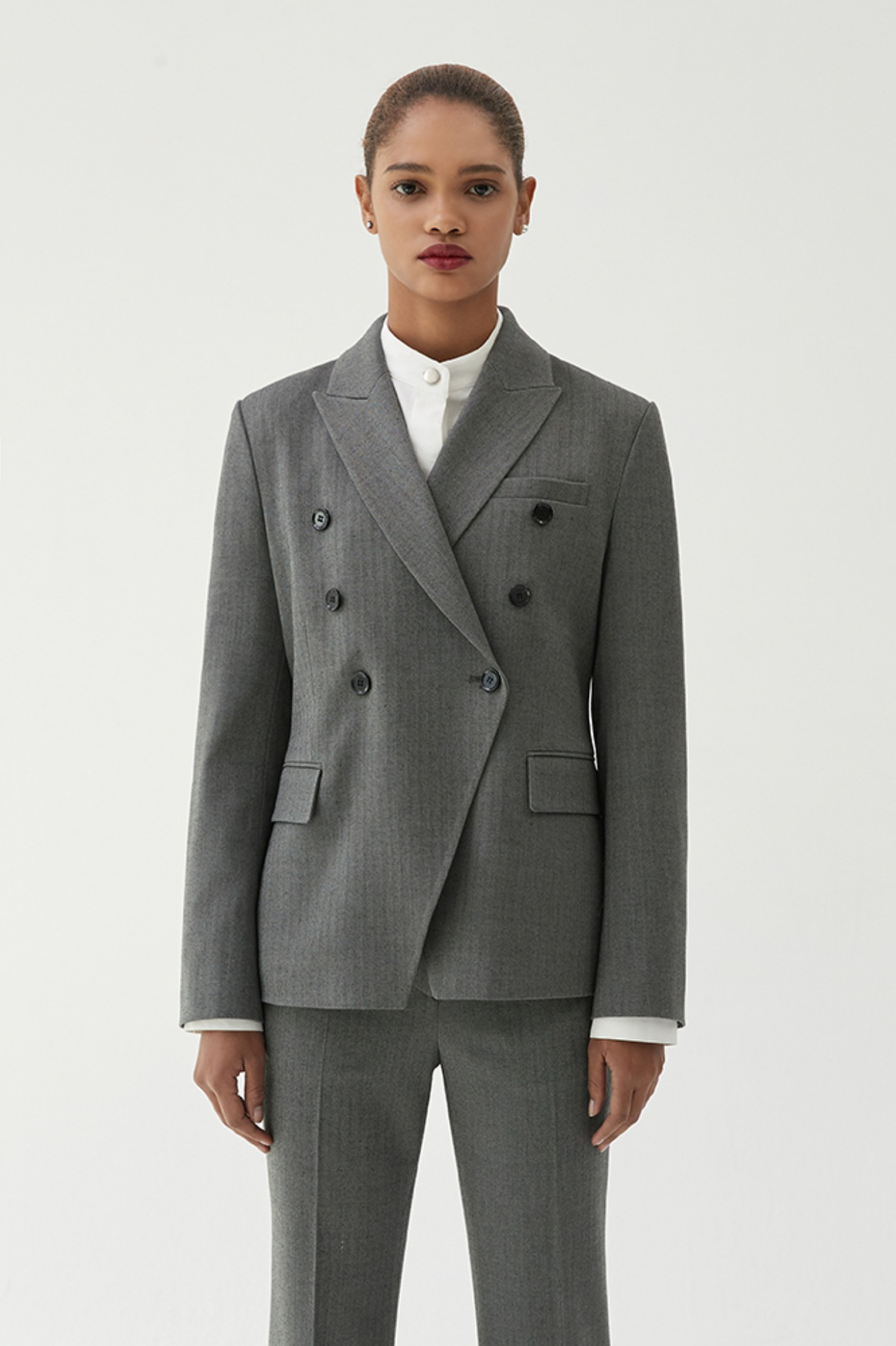 Jacket Double-Breasted Heston (Charcol Stripe)