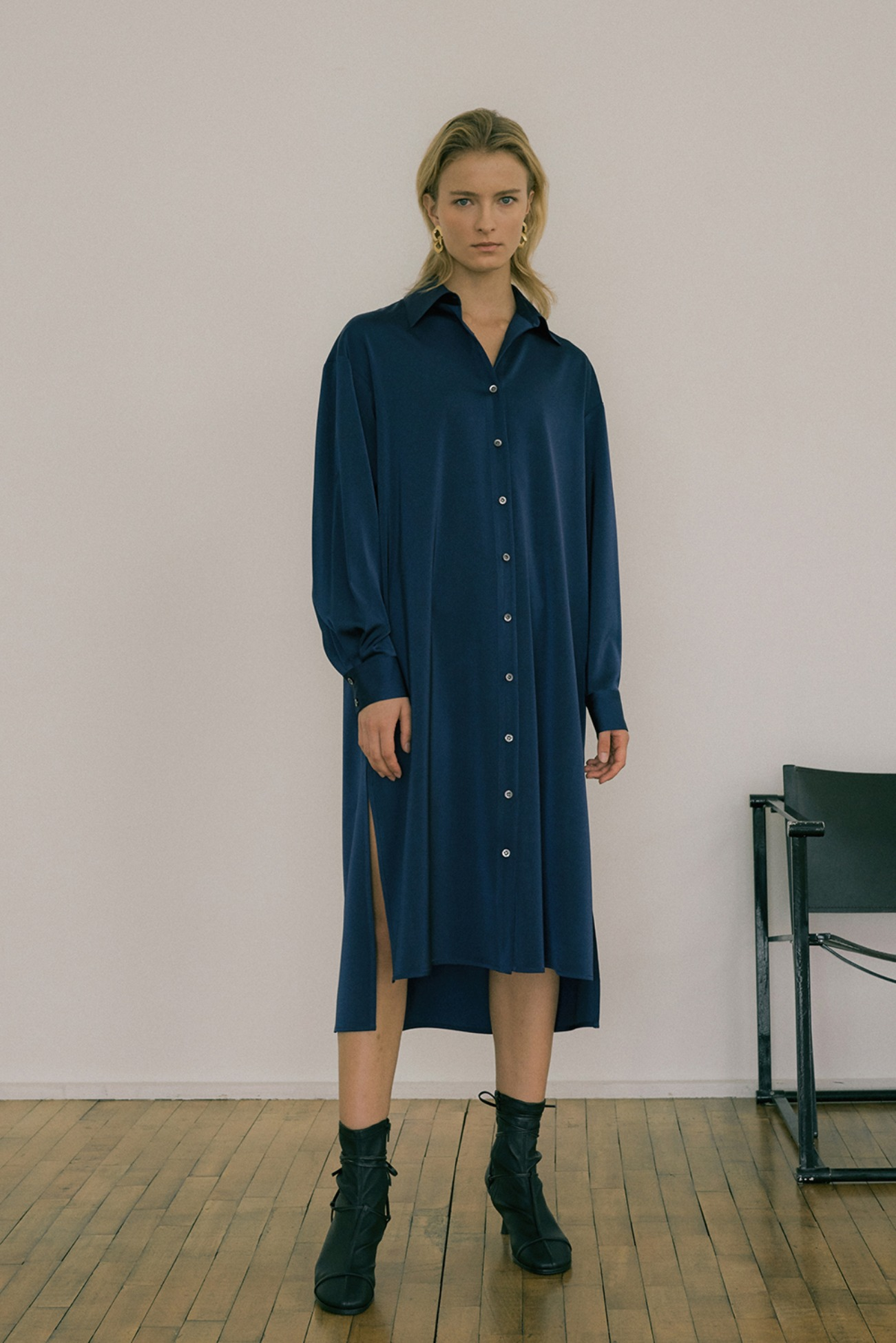 20 FW SATIN SHIRT DRESS