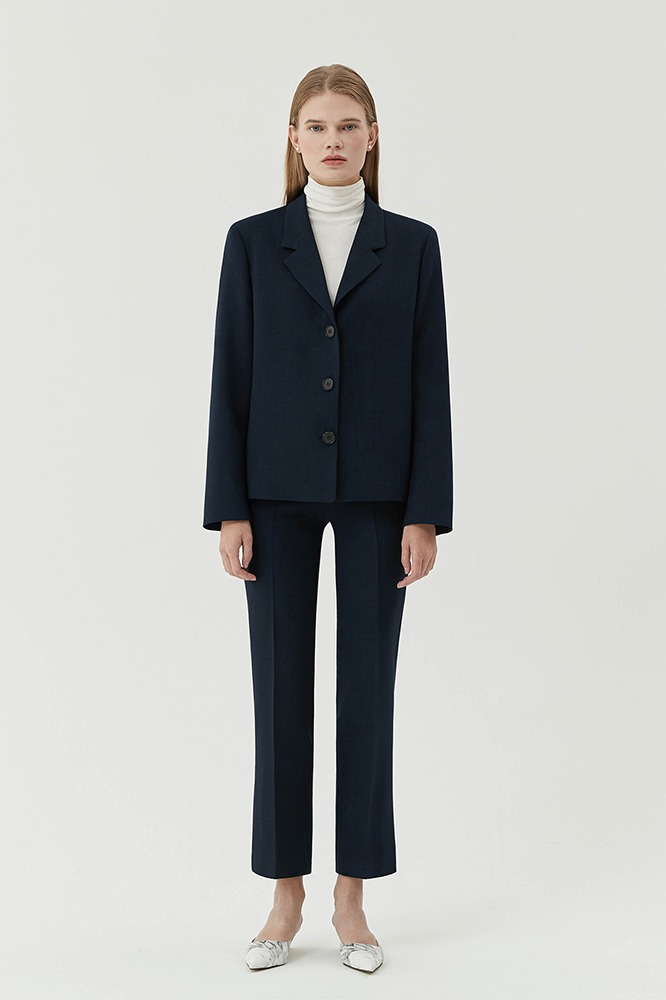 Jacket Minimal Button (Navy)