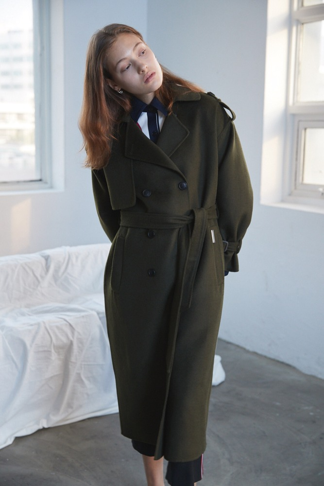 Handmade Coat Trench (Khaki)