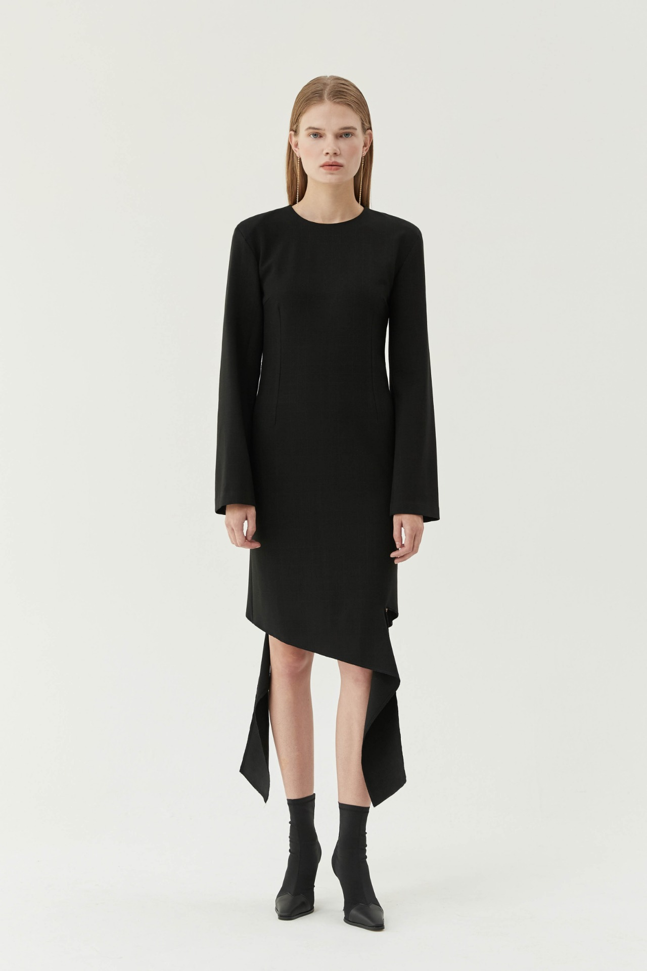 Check Cutting Dress (Black)
