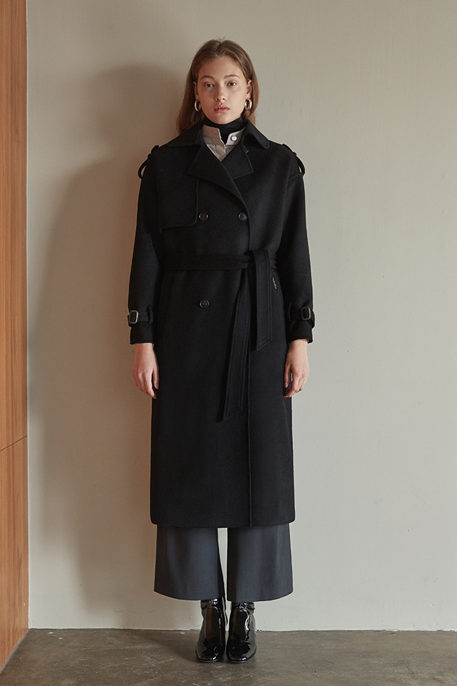 Handmade Coat Trench (Black)