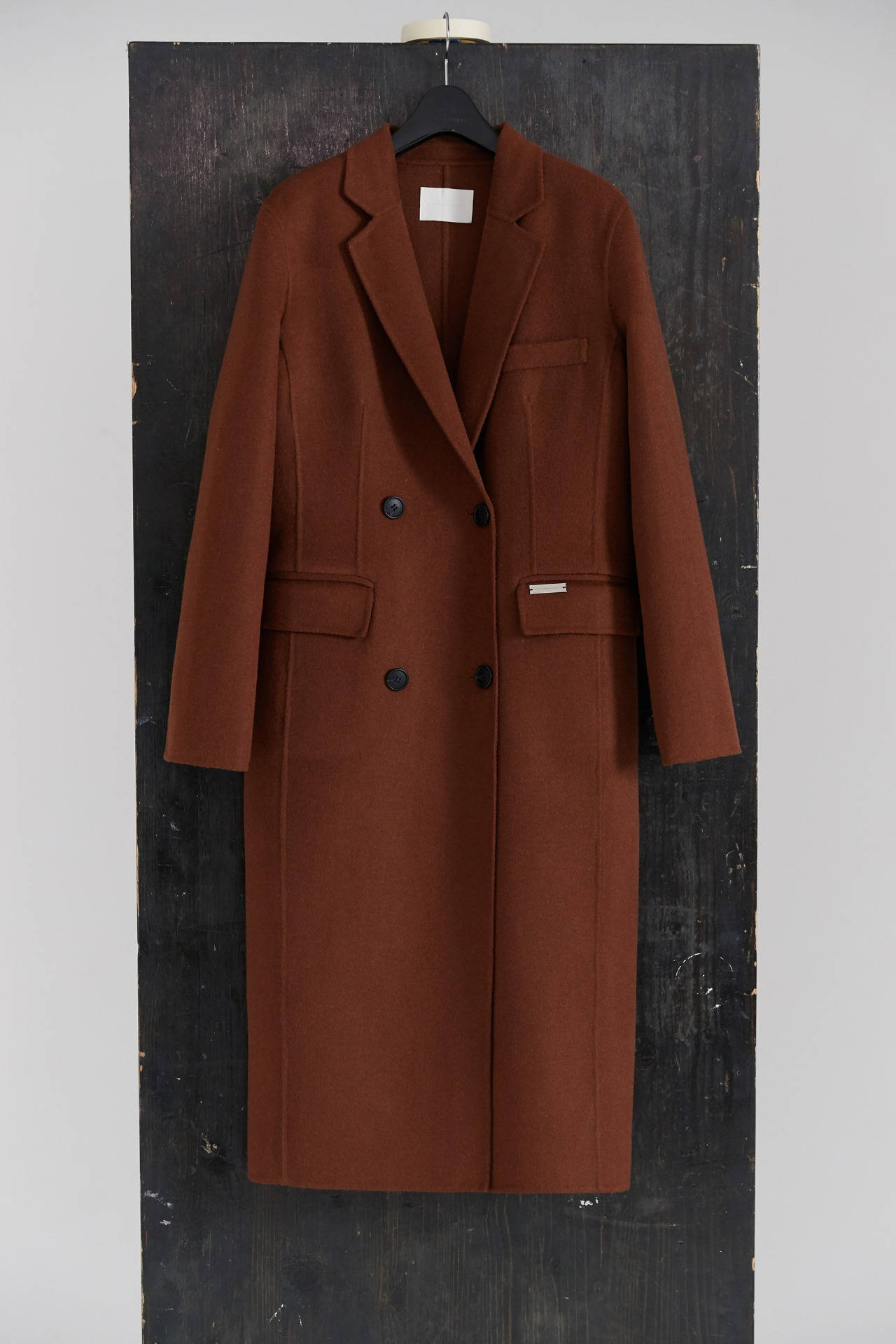 Handmade Coat Double Standard Wool (Brown)