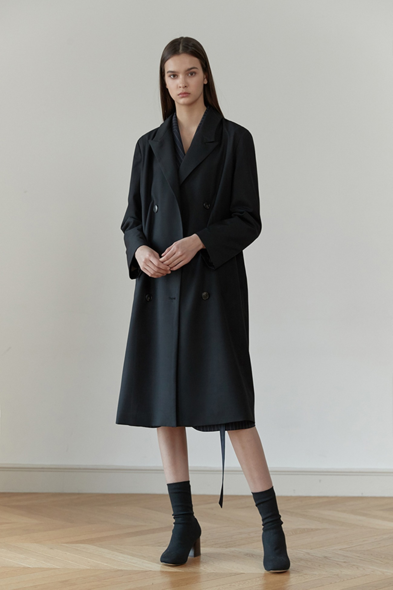 Long Jacket Hampson Double-Breasted (Black)