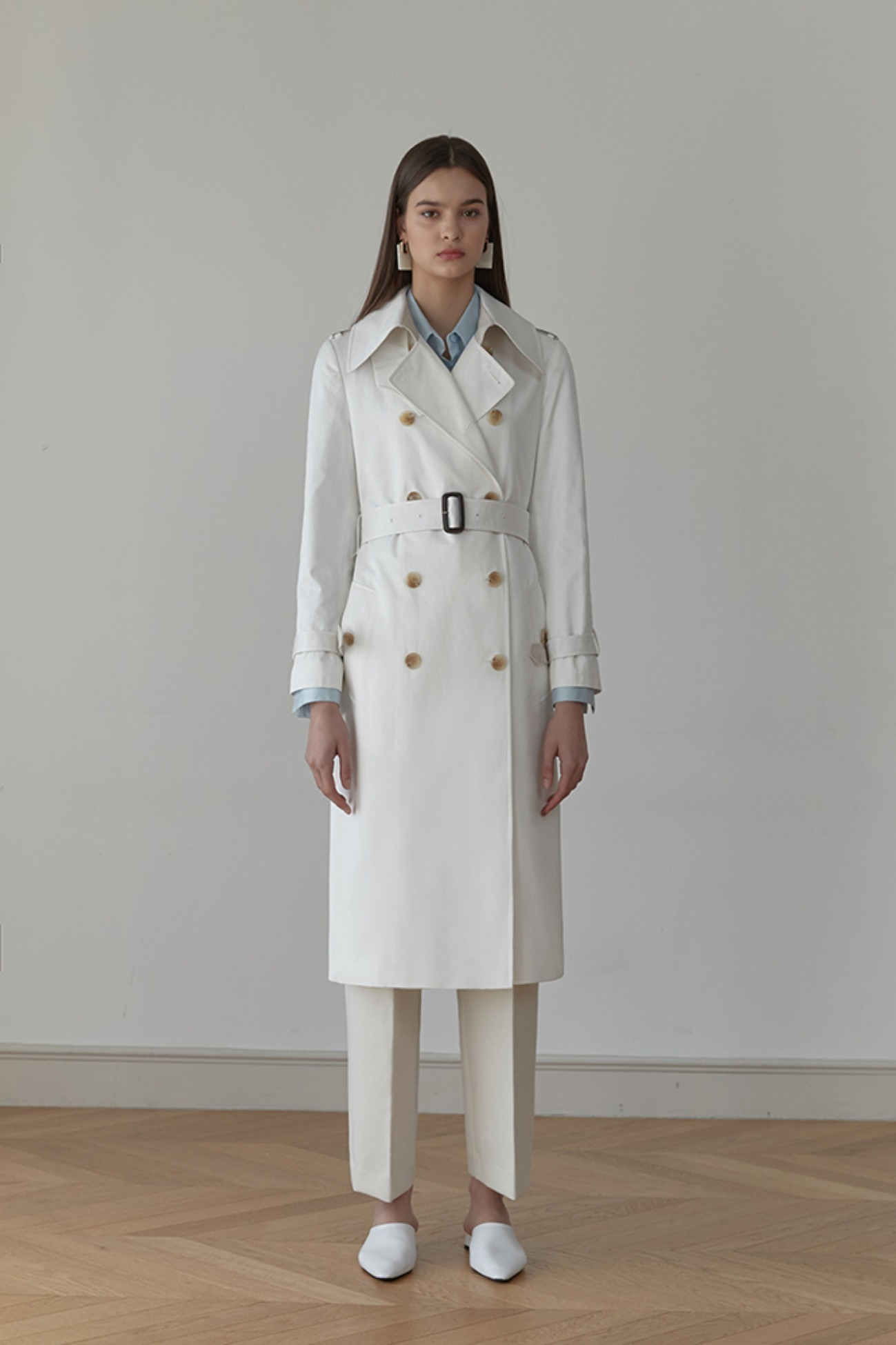 Trench Coat Rhone Double-Breasted (Ivory)