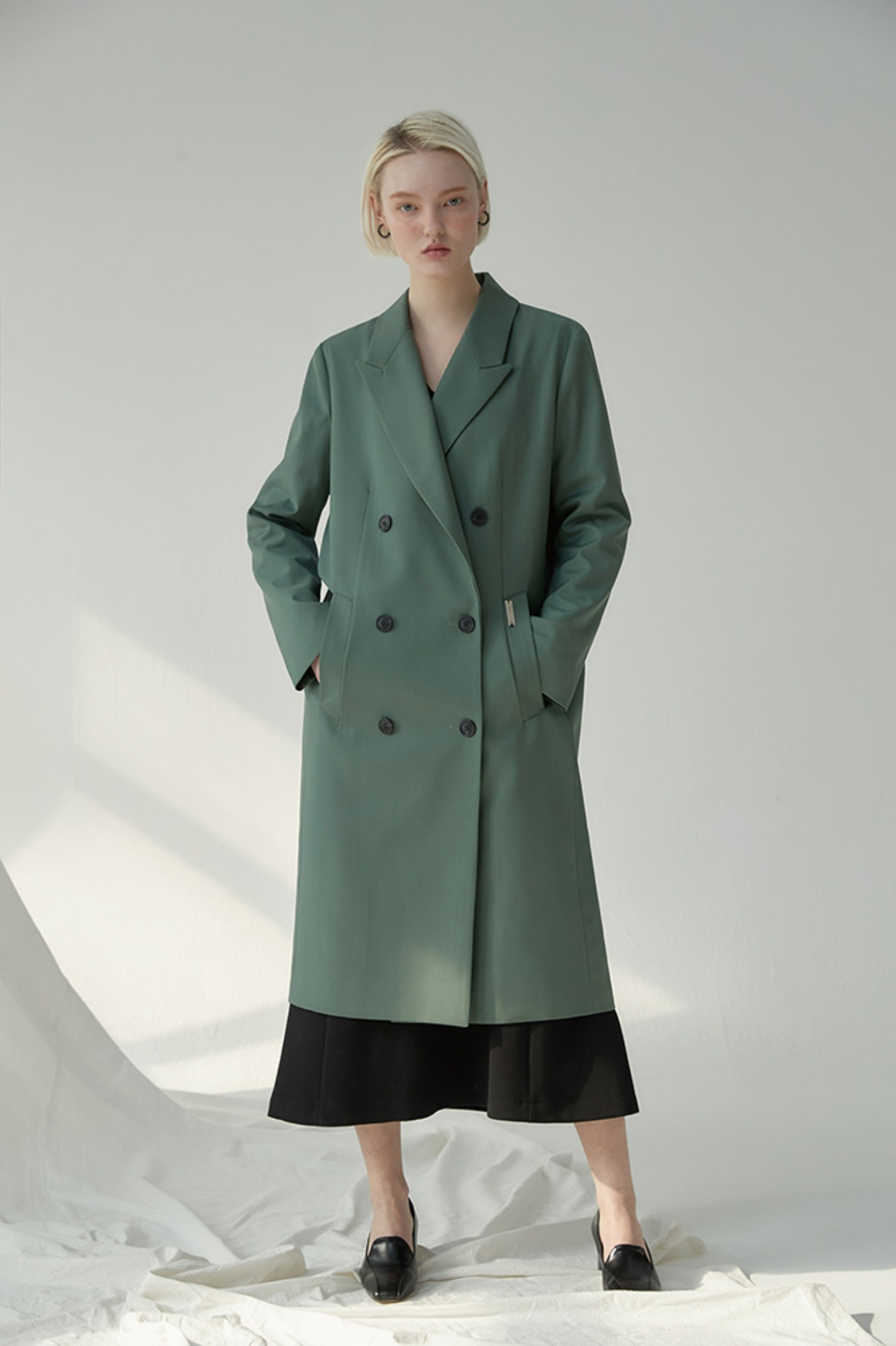 Long Jacket Hampson Double-Breasted (Green)
