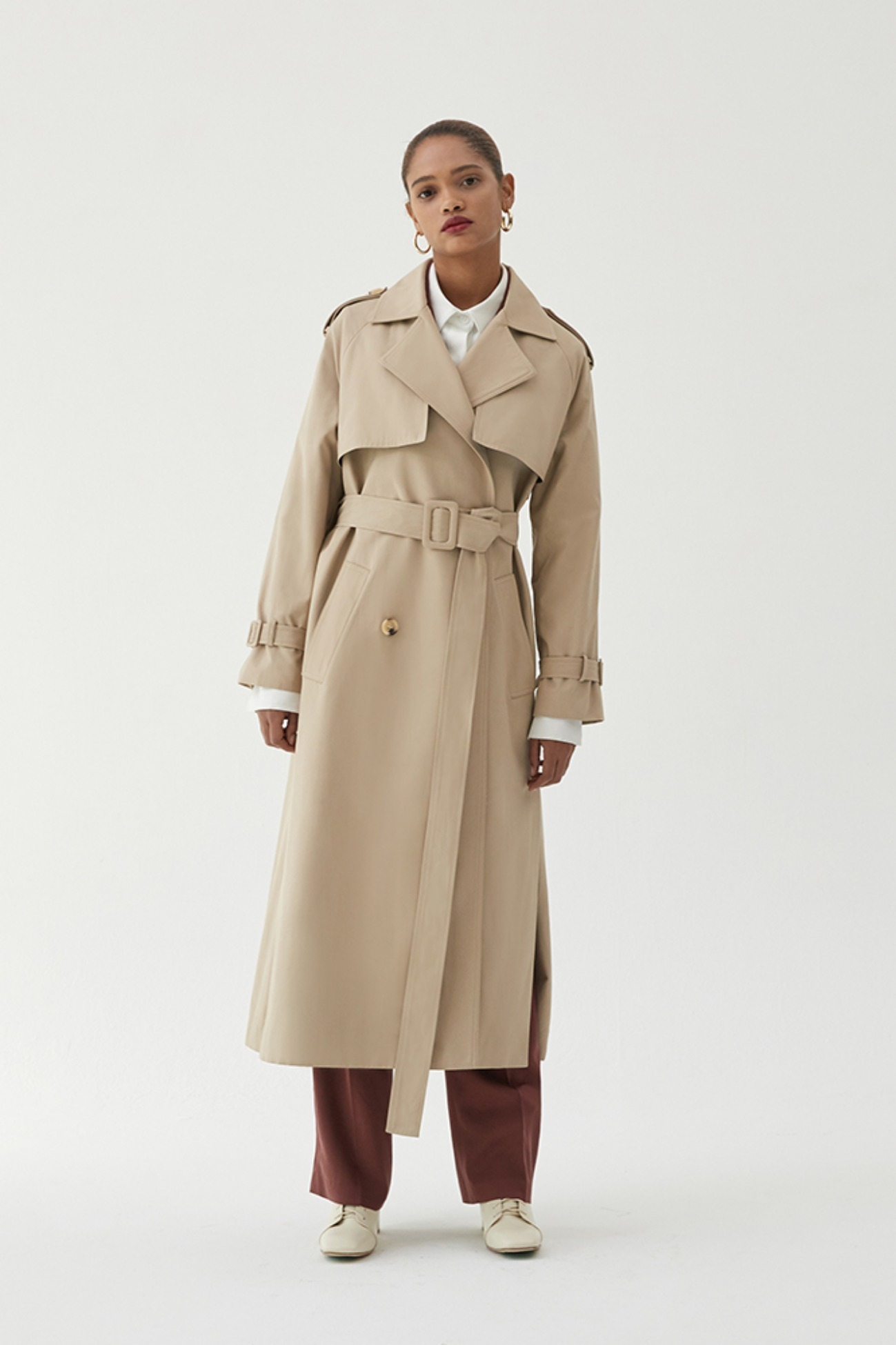 Trench coat Multi Double-Breasted (Beige)