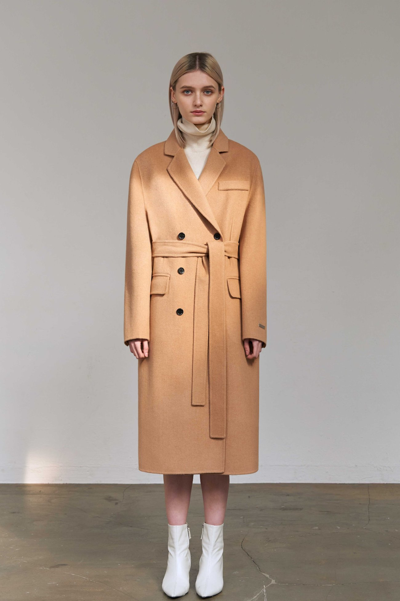 Handmade Coat City Double (Camel)